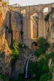 Nieuwe Ronda brug, Spanje Stock Afbeeldingen