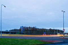 Nieuwe rotonde in Pesse royalty-vrije stock afbeeldingen
