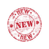 Nieuwe rubberzegel Royalty-vrije Stock Foto's