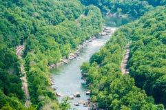 Nieuwe scenics van de rivierkloof stock fotografie