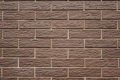 nieuwe schone bruine bakstenen muur bruine textuur als achtergrond royalty-vrije stock afbeelding