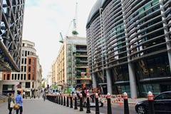 Nieuwe St van het gebouwenkanon Stad van Londen Engeland Royalty-vrije Stock Foto's