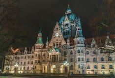 Nieuwe Stad Hall Hanover royalty-vrije stock afbeeldingen