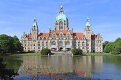 Nieuwe Stad Hall Hanover Stock Afbeeldingen