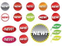 Nieuwe sticker Stock Afbeelding