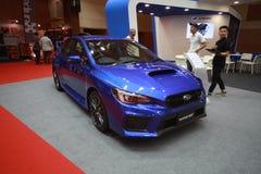 Nieuwe subaruwrx STI toont bij de auto van Maleisië van 2017 autoshow Stock Afbeeldingen
