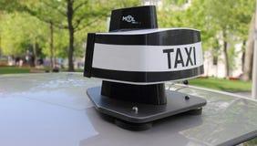 Nieuwe taxikoepel stock afbeeldingen