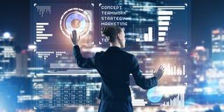 Nieuwe technologieën en innovaties als methodes voor efficiënte moderne zaken stock foto's