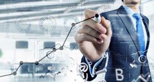Nieuwe technologieën voor zaken Gemengde media royalty-vrije stock afbeelding