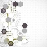 Nieuwe technologie bedrijfsachtergrond Stock Afbeeldingen