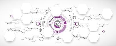 Nieuwe technologie bedrijfsachtergrond Royalty-vrije Stock Foto's