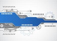 Nieuwe technologie bedrijfsachtergrond, vectorillustratie
