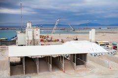 Nieuwe terminals in aanbouw in Haven Tanger Med 2 Stock Foto