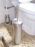 Nieuwe toiletborstel royalty-vrije stock afbeelding
