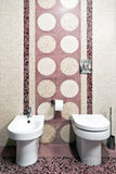 Nieuwe toiletruimte Stock Foto's