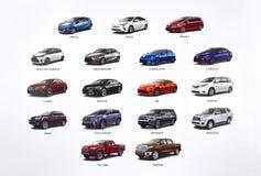 Nieuwe Toyota-auto's Stock Foto