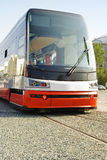 Nieuwe tram in tentoonstellingscentrum Stock Afbeeldingen