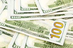Nieuwe uitgave 100 dollarsbankbiljetten, geld voor krediet en voordeel Royalty-vrije Stock Foto's