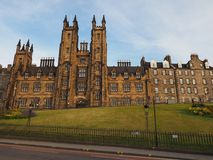 Nieuwe Universiteit in Edinburgh royalty-vrije stock foto's