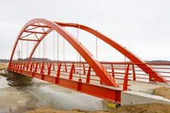 Nieuwe voetgangersbrug Stock Foto's