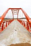 Nieuwe voetgangersbrug stock afbeeldingen