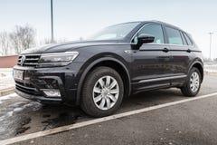 Nieuwe 2017 Volkswagen Tiguan, 4x4 r-Lijn Stock Afbeelding