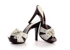 Nieuwe vrouwenschoenen Stock Foto