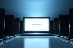 Nieuwe websitepresentatie Stock Foto's