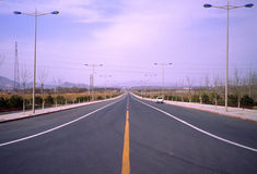 Nieuwe weg. Stock Fotografie