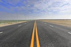 Nieuwe weg in de winter Stock Fotografie