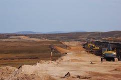 Nieuwe wegen aanleg stock foto