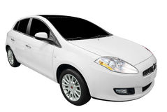 Nieuwe witte auto Stock Afbeeldingen