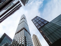 Nieuwe Wolkenkrabbers NYC Stock Foto