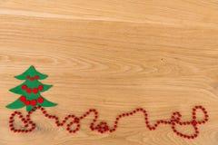 Nieuwe Year& x27; s achtergrond op een houten lijst Stock Afbeeldingen