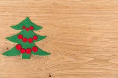 Nieuwe Year& x27; s achtergrond op een houten lijst Royalty-vrije Stock Afbeeldingen