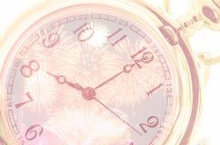 Nieuwe Year& x27; s bij middernacht Stock Afbeeldingen