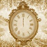 Nieuwe year& x27; s klok Royalty-vrije Stock Foto