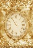 Nieuwe year& x27; s klok Royalty-vrije Stock Afbeeldingen