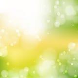 Nieuwe Zonnige abstracte groene aardachtergrond vector illustratie