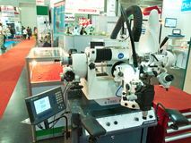 Nieuwe zware machine in asiean metallex 2014 bitec, Bangkok Royalty-vrije Stock Foto