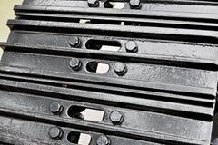 Nieuwe zwarte rupsband Royalty-vrije Stock Afbeeldingen