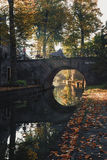 Nieuwegracht with its arched bridges in the old town of Utrecht. Royalty Free Stock Photos