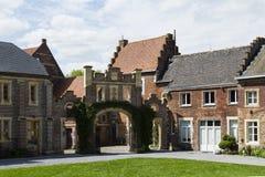 Nieuwenhoven城堡在省领域Nieuwenhoven,比利时的 图库摄影