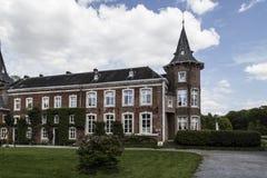 Nieuwenhoven城堡在省领域Nieuwenhoven,比利时的 库存图片