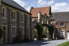 Nieuwenhoven城堡在省领域Nieuwenhoven,比利时的 免版税图库摄影