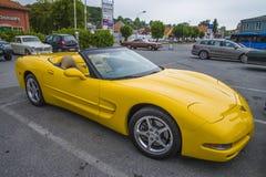 Nieuwere auto, convertibel chevroletkorvet van 2004 Stock Foto's