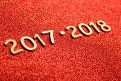 Nieuwjaar 2017 - 2018 Stock Afbeelding