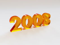 Nieuwjaar 2008 Stock Afbeeldingen