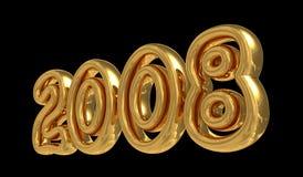Nieuwjaar 2008 vector illustratie