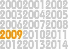 Nieuwjaar 2009 Royalty-vrije Stock Afbeeldingen